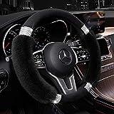 Achiou Fluffy Steering Wheel Cover for Women, Universal...