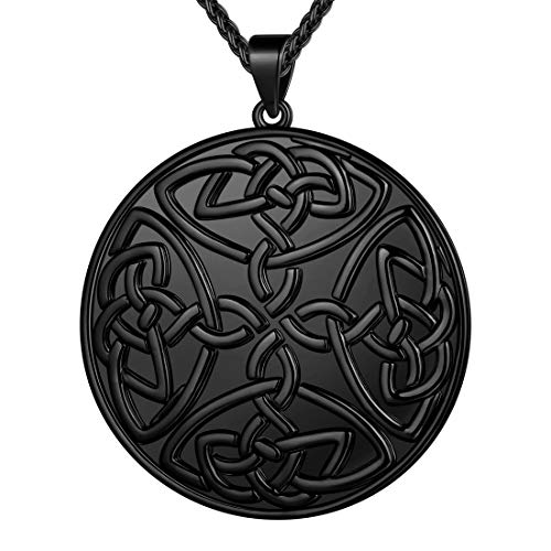 beautlace Celtic Knot Necklaces Silver Plated Round Coin Pendant Jewelry Gifts for Women and Men KP0094K