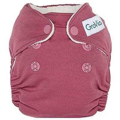 GroVia Newborn All in One Snap Reusable Cloth Diaper (AIO) (Petal)