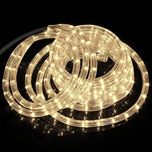 Forever Speed 8M LED Lichterschlauch Lichterkette Schlauch Leiste Außen und Innen Warmweiß
