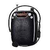 shidu amplificatore vocale 10w altoparlante portatile ricaricabile con sistema pa con microfono cablato supporto auricolare riproduzione mp3 per insegnanti, yoga, guide turistiche, istruttori esterni