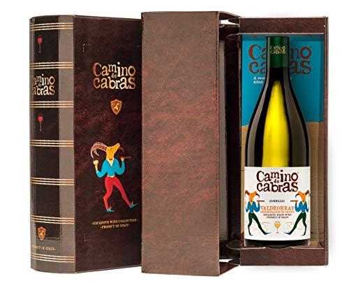 CAMINO DE CABRAS Estuche de vino - Godello - vino blanco – D.O. Valdeorras – Producto Gourmet - Vino para regalar - Vino Premium - 1 botella x 750 ml.