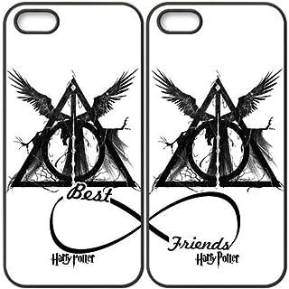 a264171c5d1 JiHuaiGu(TM) iPhone 5 5S Cover Black BFF Best Friends Harry Potter Custom  Theme