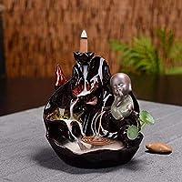 家庭用アロマディフューザー 瞑想香香炉僧逆流コーンロッドホルダーセラミック香の煙の滝の家の装飾仏教 (Color : 1)