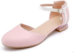BalaMasa Womens ASL06350 Pu Block Heels
