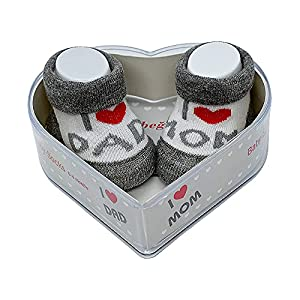 Calcetines de bebé recién nacido, 0 – 4 meses para bebés y niñas | regalo perfecto para recién nacidos, bebés y baby showers | certificado Oeko-Tex ®