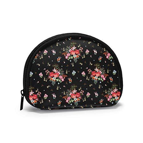 Oxford Cloth Bouquet Nahtloses Muster Münzgeldbörse Kleine Reißverschlusstasche Geldbörse Tasche Mini Cosmetic Makeup Bags Organizer Mehrzweckbeutel