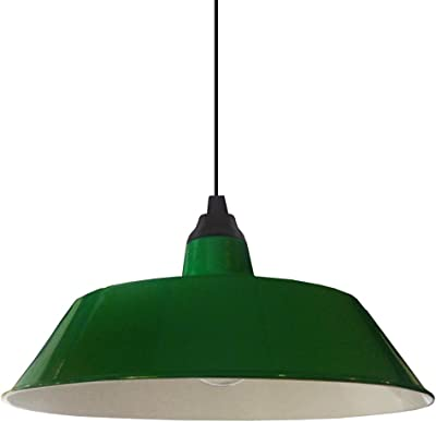 Pendente de Teto Estilo Industrial Retrô cor Verde Bilhar
