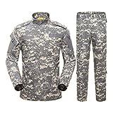 SR-Keistog Hombres Ejército Uniforme Militar Tactical Fuerzas Especiales Camisa de Combate Abrigo Camuflaje Ropa de Soldado Militar Color2 Set XL