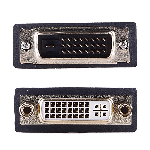 REY Adaptador DVI-I (24+5) Hembra a DVI-D (24+1) Macho, Señal Digital y...