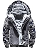MACHLAB Men's Pullover Winter Workout Fleece Hoodie Jackets Full Zip Wool Warm Thick Coats Dark...