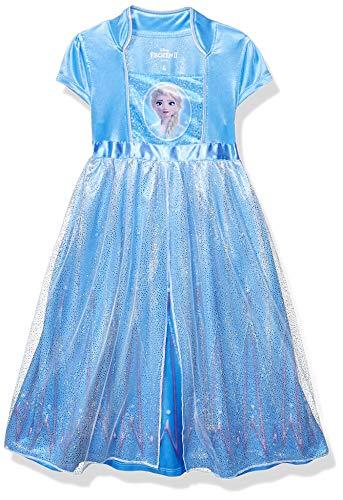 Disney Girls' Toddler Fantasy Nightgown, Elsa - Frozen 2, 4T