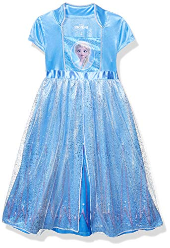 Disney Girls' Little Fantasy Nightgown, Elsa - Frozen 2, 4