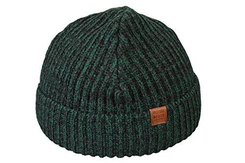 MB Sportswear Bonnet Hiver pour Homme Urban Beanie bonnets tricoté slouch en darkgreen
