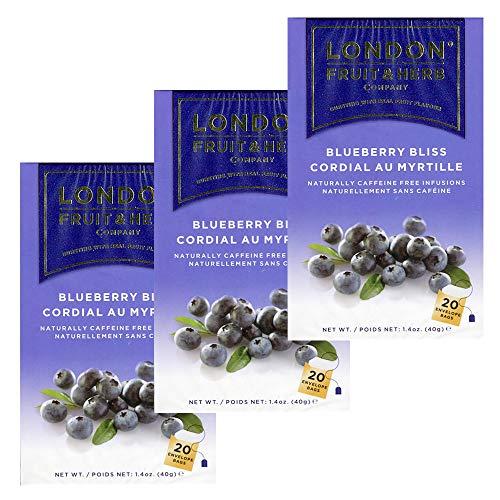 送料無料 ロンドンフルーツ&ハーブ ブルーベリーブリス (20パック入り) 3箱セット ハーブティ ティーバッグ イギリス