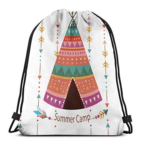 jingqi Travel Sackpack,Gym Bags,Sport Cinch Pack,Bolsos De Gimnasio,Mochila con Cordón,Tienda Arrows Boho