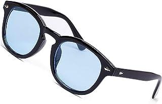 SHEEN KELLY MOSCOT Lunettes de soleil style mod DEPP ICONIC Johnny Depp homme femme VINTAGE unisexe rond bleu objectif coloré