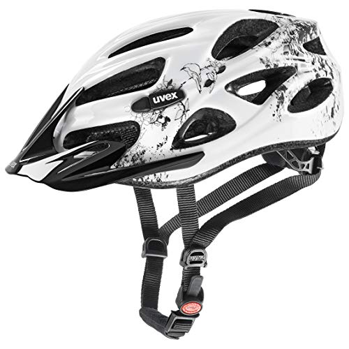 Uvex Unisex– Erwachsene, onyx Fahrradhelm, white, 52-57 cm