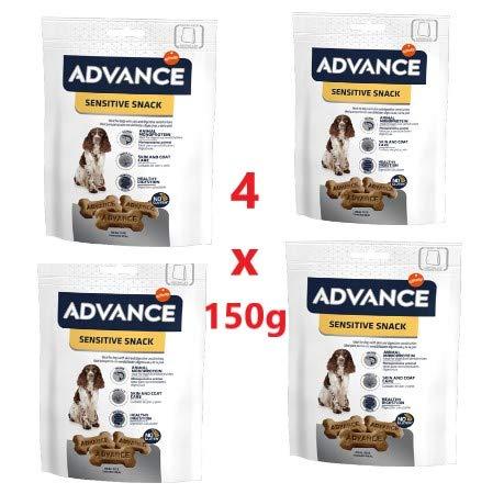Advance 4 Confezioni da 150 g Sensitive Snack Affinity Salmone per la Salute della Pelle