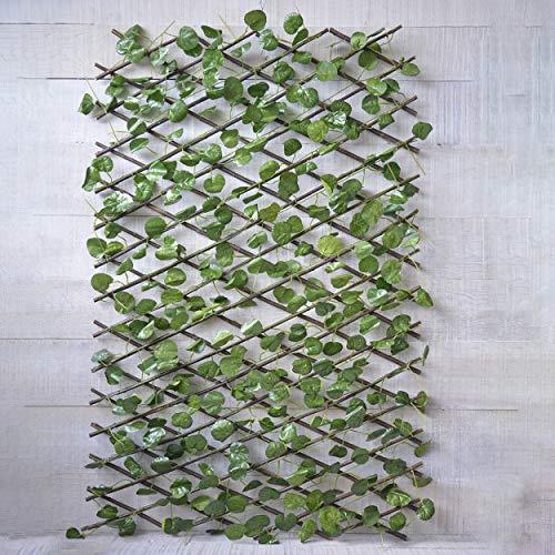 HOGAR Y MAS Jardin Vertical, celosia Extensible Hiedra Artificial con Estructura de...
