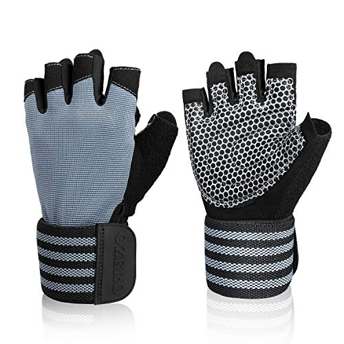 OZERO Weight Lifting Gloves, Gym Workout Gloves with Wrist Support for Weightlifting/Cross Training/Fitness - Full Palm Protection for Women and Men