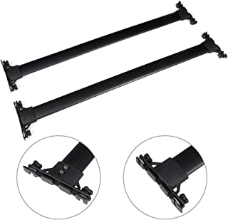 AUTOMUTO Cross Bars fit for 2010 2011 2012 2013 2014 2015 2016 2017 2018 2019 Toyota 4Runner Aluminum Black Roof Top Bar Luggage Carrier