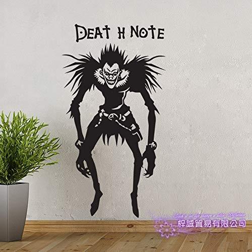 Death Note Auto Aufkleber Ryuuku Wandaufkleber Cartoon Fans Vinyl Wandaufkleber Auto Aufkleber Dekor Hause Dekorative 58x106CM
