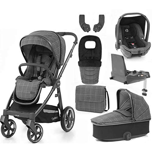 Babystyle Oyster 3 Manhattan with Carrycot Bag footmuff isize car seat Base and Raincovers