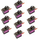 Wishiot MG90S Micro Servo Metal Gear High Speed 2kg/cm 4.8V for RC Helicopter Airplane and Small Arduino Raspberry Pi Project