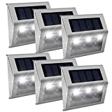 【Cool White】Solar Fence Lights,Stainless Steel...