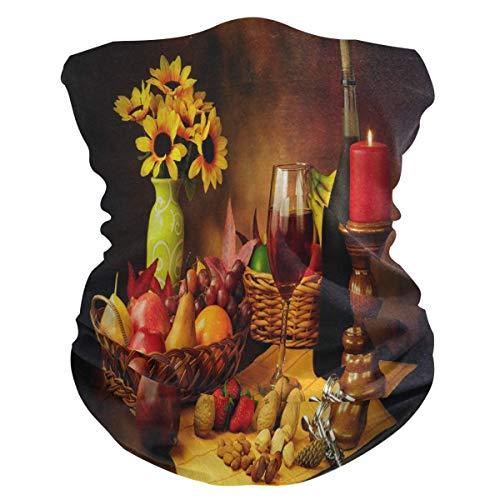 Stilleven Afbeelding van rode wijn Gezichtsmasker Bandana Buitenshuis Hoofddeksels Brede sporthoofdband Multifunctionele hoofddeksels, naadloze ademende hoofdband voor dames Heren