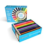 Classmaster Class Box Colouring Pencils – Standard Full-Size, Pre-Sharpened Wooden Set – Assorted Colours (Pack of 144)