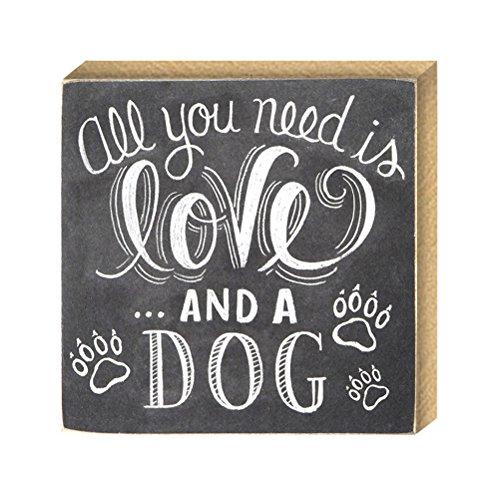 VORCOOL Tutto ciò di Cui Hai Bisogno è Amore e Un Cane Mini Chalk Sign Chalkboards Targa per Il Desktop Decorazione del Tavolo Targa in Legno Vintage per Decorazioni per la casa