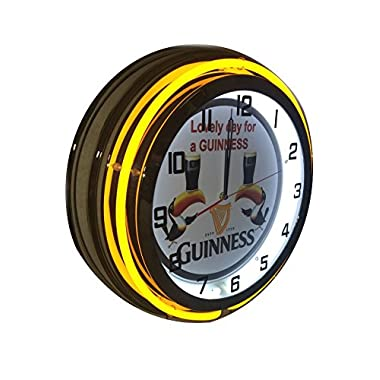 Guinness Toucan Sign - Lovely Day for a 19 inch neon clock