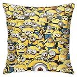 MZZhuBao Minions Funny Throw Pillows Lover Gifts Funda de Almohada de Regalo de45x45cm