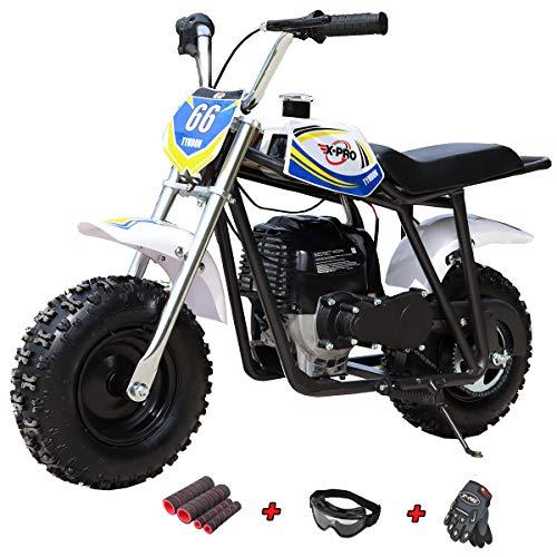 X-PRO 40cc Kids Mini Dirt Bike Mini Pit Bike Dirt Bikes Motorcycle Gas Power Bike Off Road (Blue)