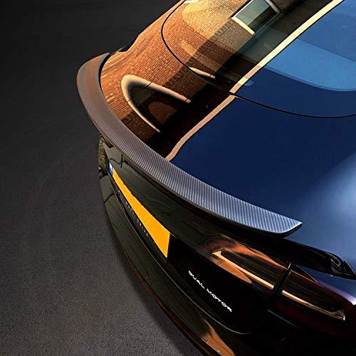 Spoiler, Tesla Model 3 Carbon Fiber Rear Trunk Spoiler Lip, Matte Finished