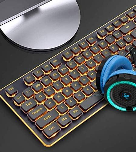 Teclado con cable silencioso, manipulador USB de escritorio ...