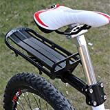 yunli Black Mountain Cycling Bicycle Bike Seat Post Rear Carrier Cargo Rack Extendable