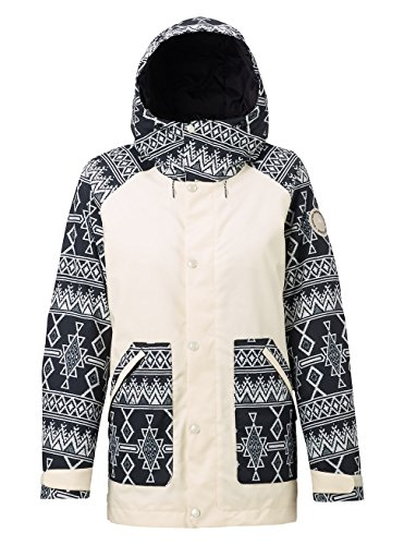 Burton Damen Eastfall Jacket Snowboardjacke, Canvas/True Black Mojave, M