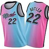 YCQQ Uniforme de Baloncesto para Hombre, Ṃiaṃi Ḥeaṭ Jiṃmy Ḅutlẹr 22# Camisetas, Chaleco Deportivo De Uniforme De Baloncesto Swingman De Edición De Ciudad 2021 Pink(Size:L177-182,Color:G1)