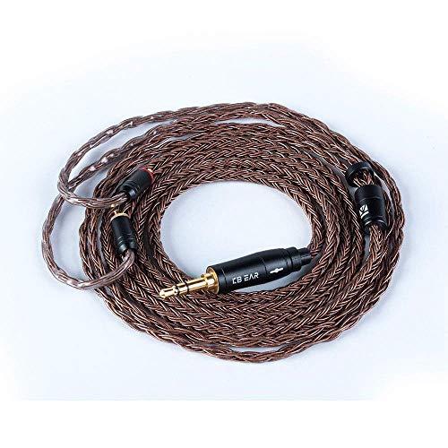 KBEAR Cable de Actualización para Auriculares, 16 Núcleos Cobre sin Oxígeno, Cable de Repuesto para Monitor de Oído, Adecuado para SE215 SE315 LZA4 LZA5 Tin T2 T3(MMCX 3,5mm)
