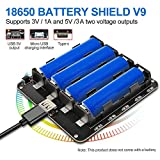 diymore 18650 Battery Shield V9 5V/3A 3V/1A Erweiterungskarte mit Micro-USB Typ C für Raspberry Pi Arduino ESP32 WLAN