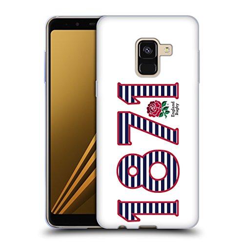 Head Case Designs Official England Rugby Union 1871 Paisaje 2016/17 La Rosa Carcasa de Gel de Silicona Compatible con Samsung Galaxy A8 Plus (2018)