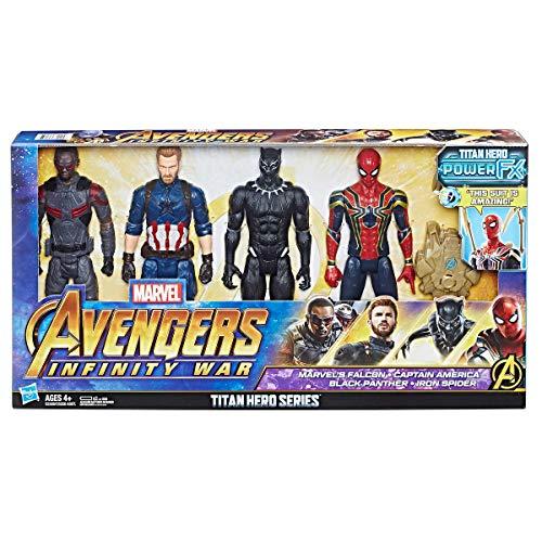 Marvel- Avengers Titan Hero Series 4 Pack, Multicolore, 4