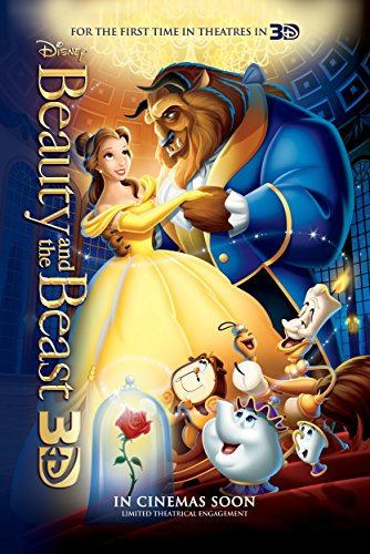 Movie Poster Beauty and The Beast (1991) - Dance - 13 in x 19 in Flyer Borderless + Free 1 Tile Magnet