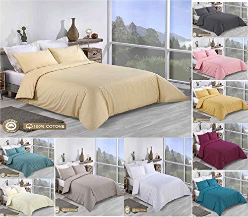 Tim's Textile Bettwäsche-Set, 100% Baumwolle, einfarbig, für Doppelbett, King-Size, Super-King-Size, 100% Baumwolle, Pale pink, Doppelbett