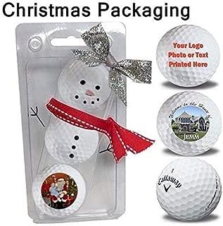 Titleist 3 Ball Pack Pro V1 Custom Logo Refinished Mint Golf Balls Now in Christmas Ribbon Packaging