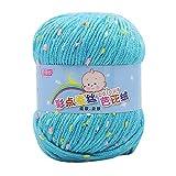 Ovillo de lana para tejer a mano, 50 g, para tejer a mano, bufanda, suéter, sombrero, tejido, para el hogar, textiles del hogar, 4 de julio