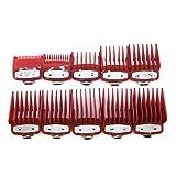 Haonan Cortapelos de barberos, 8/10 peines de guía, para estilistas profesionales y barberos de corte de pelo Limit Peine Hair Styling Tool Accesorios